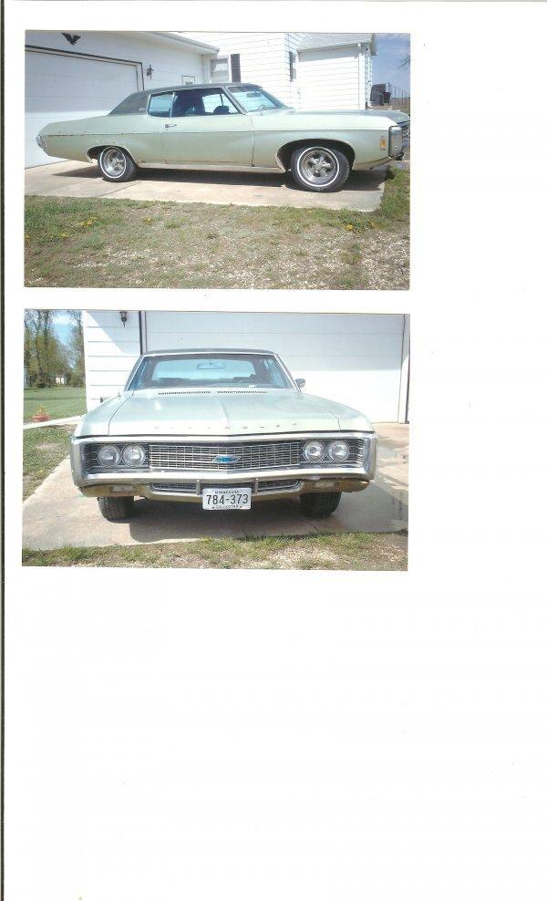 15L: 1969 Chevrolet Carpice 2dr HT`