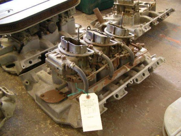 11L: Ford Aluminum Intake 427 Tri-Power