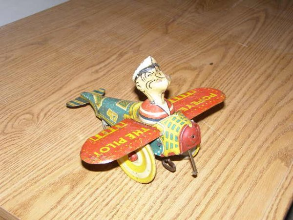 44H: Popeye Wind UP toy-Vintage