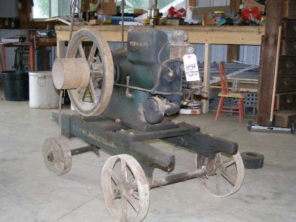 54H: McCormick Type M Stationary Gas Engine -IH Cart