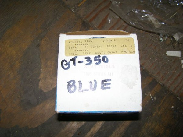 3M: Ford Mustang GT350 Shelby NOS Stripe kit