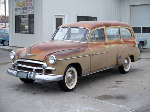 673M: 1950 Chevrolet Steel Woody Wagon