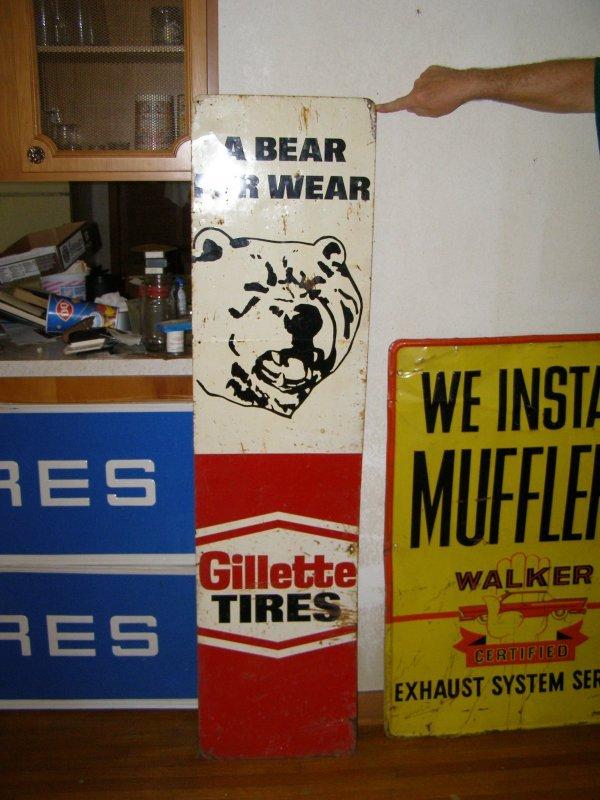 2S: Gillett Tires Vintage sign