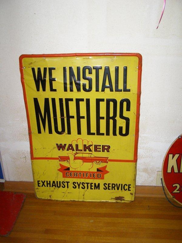 3S: Walker Muffler Vintage Sign