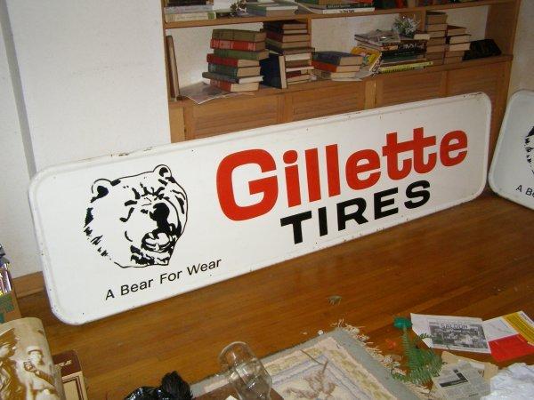 7S: Gillett Tires Vintage sign