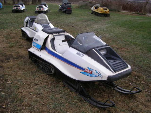 2R: 1974 Raider 44 TT  Eagle Twin Track Snowmobile