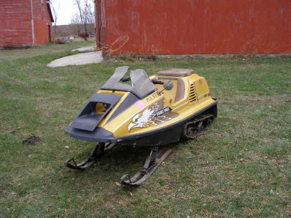 6R:1974 Raider Double Eagle Twin Track Snowmobile