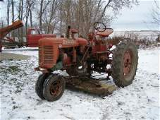 14R: Farmall Super C Tractor with Belly Mower
