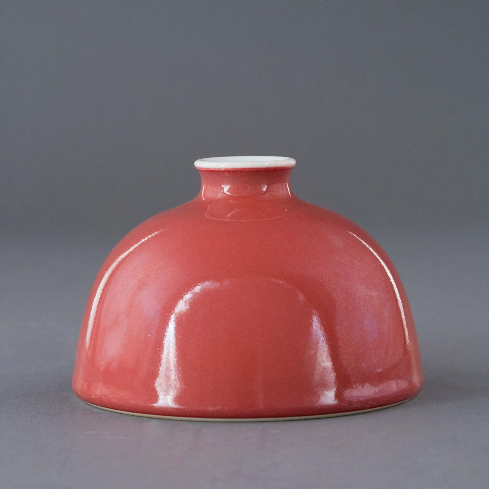KANGXI OXBLOOD MONOCHROME WATER POT