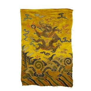 CHINESE QING DYNASTY SILK EMBROIDERY