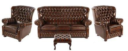 Gecapitonneerde Leren Bank.Furniture Feb 11 2020 Derksen Veilingbedrijf In Netherlands