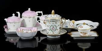 Rolled Porzellan Tettau Bavaria porcelain choux dish