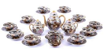 Japanese Satsuma porcelain tea set