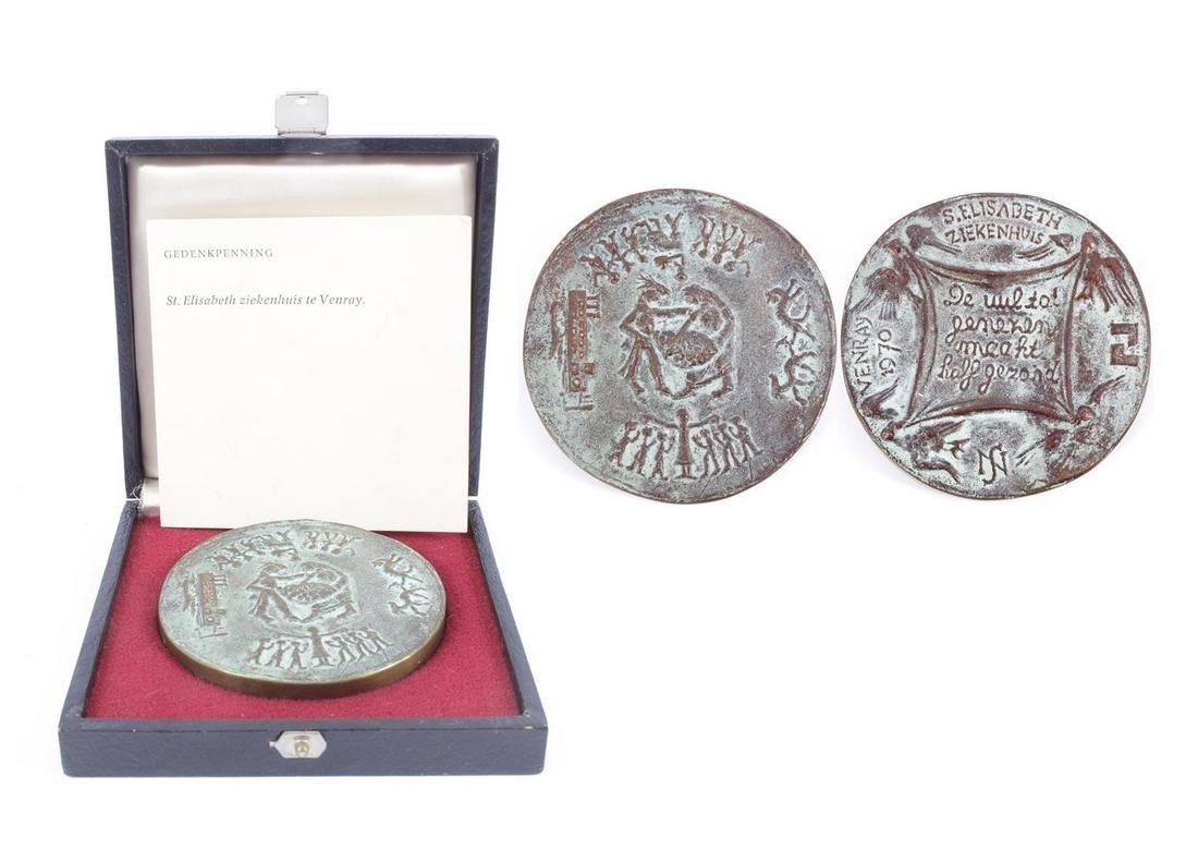 Bronze commemorative medal St. Elisabeth Hospital in