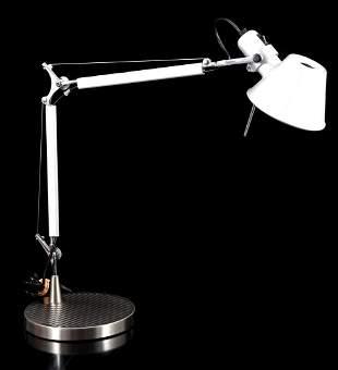 Metal and aluminum adjustable floor lamp, design M. de