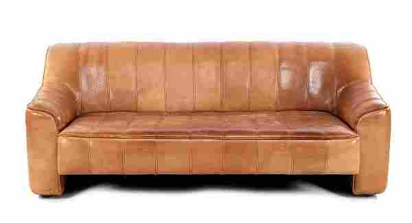Adjustable calfskin 3-seater De Sede sofa, model DS 44