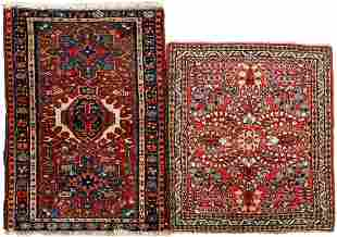 2 hand-knotted wool carpets