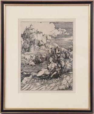Engraving after Albrecht Dürer, Rivage de Bohème