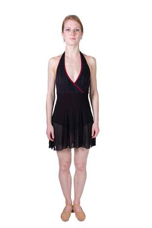 Black ballet dress with red trim. Costume from Hans van