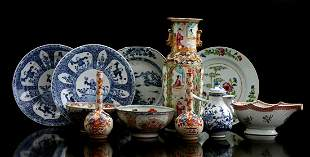 Buy Chinese porcelain b.u. 2 Imari pipe vases, Famille