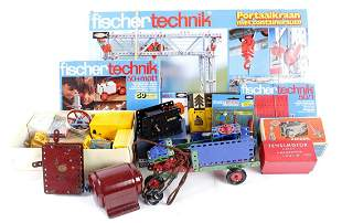 Lot of various construction toys, incl. Meccano and