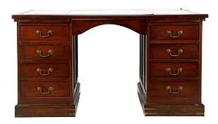 Walnut detachable partner desk / desk