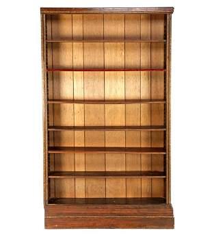 Oak and pine open bookcase