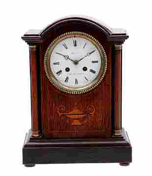 French table clock in oak