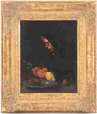 Willem van den Berg, Woman at the table with a bowl