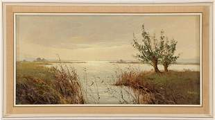 Peter Cox, Dutch landscape with pollard willows