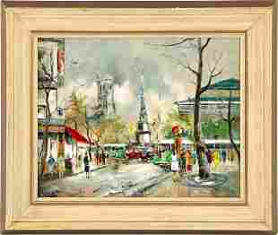 Unclearly signed, French cityscape