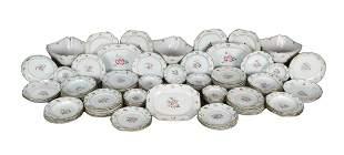 117-piece Chinese porcelain dinner set Famille Rose,