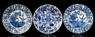 2 porcelain dishes and a dish