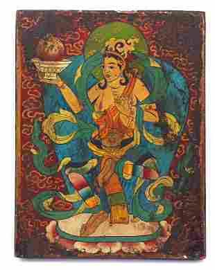 Oriental painted icon