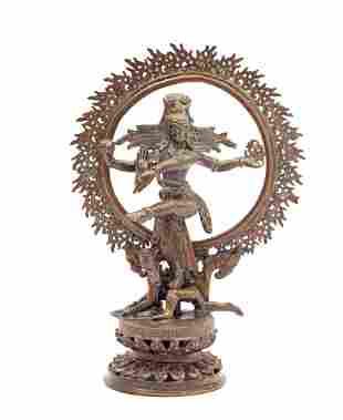 3-piece bronze Shiva