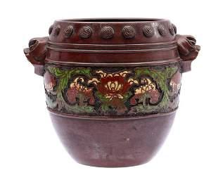 Asian bronze pot