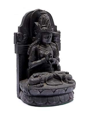 Cast bronze statue