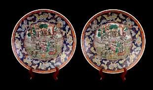 2 Japanese porcelain dishes