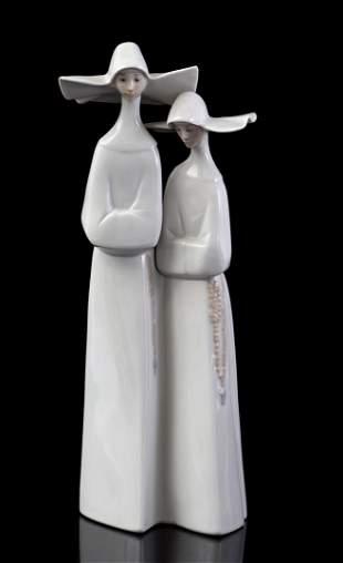 Lladro porcelain sculpture group