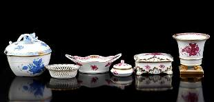 6 pieces Herend Hungary porcelain