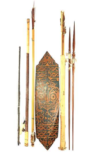 Lot tribal weapons