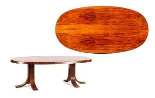 Rosewood veneer coffee table