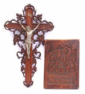 Oak-fired crucifix