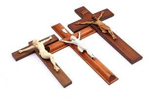 3 various crucifixes