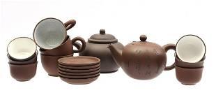 Lot of Yixing pottery