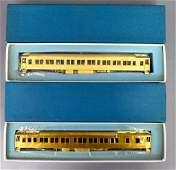 Two Lambert HO scale brass Pullman cars in original