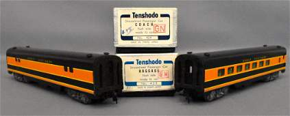 Two Tenshodo HO scale brass Great Northern passenger