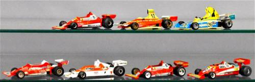 Group of seven Yaxon Polistil and Super Champ 1/43 Indy