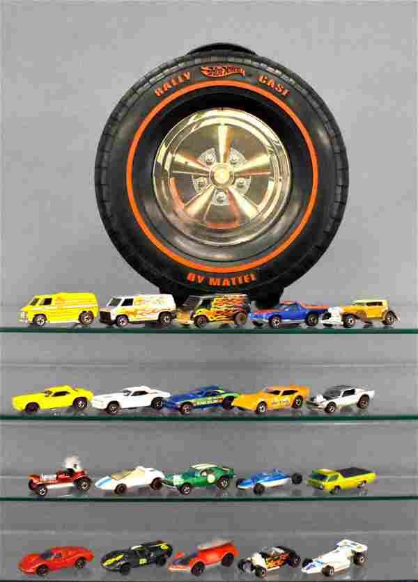 "Group of twenty Mattel Hot Wheels Redlines in 12"" Rally"