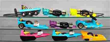 Group of nine assorted SSP racers